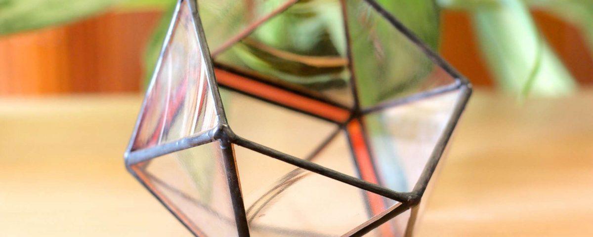 Форма/флорариум икосаэдр, витражная. Тиффани. 1