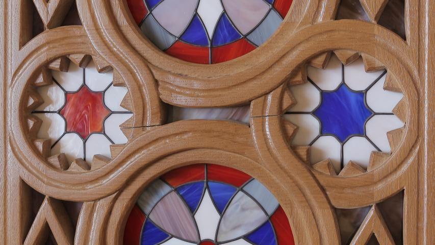 Витраж в деревянной раме | Тиффани 09