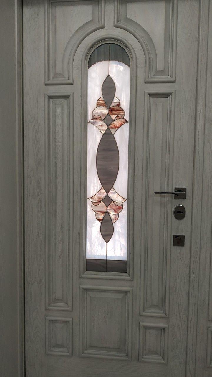 Витражные вставки в межкомнатные и входные двери 05