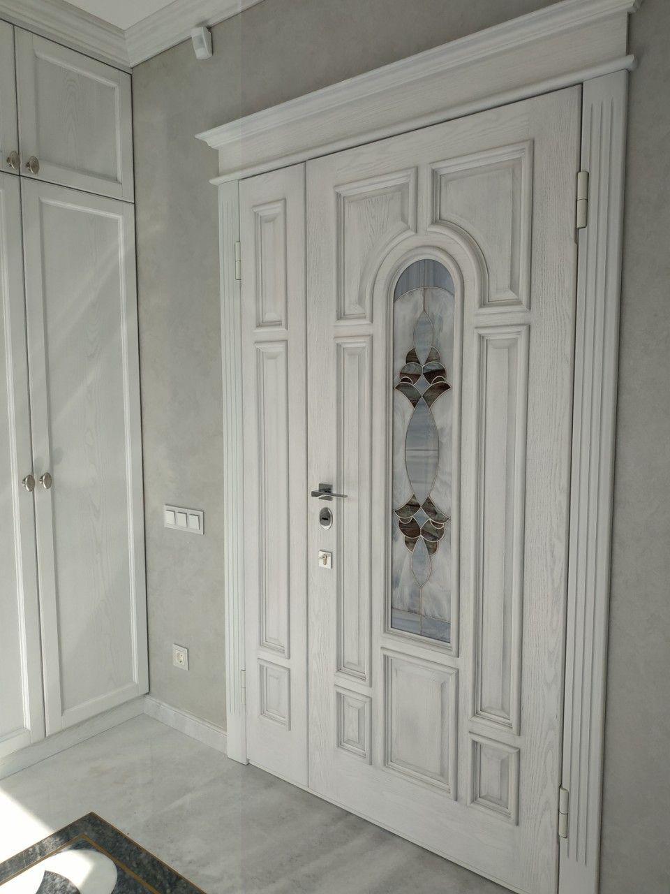 Витражные вставки в межкомнатные и входные двери 06