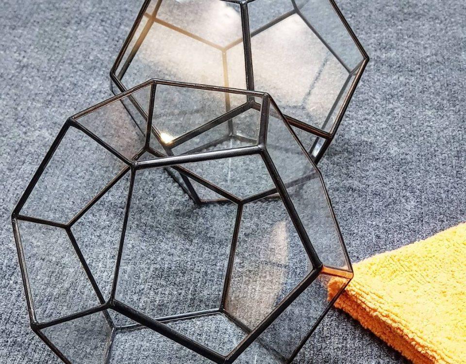 Две геометрические стеклянные формы для изготов...