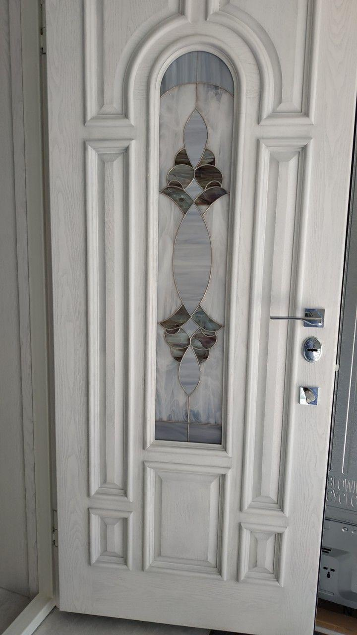 Витражные вставки в межкомнатные и входные двери 04